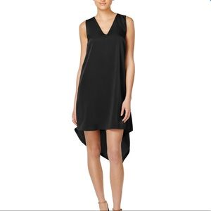 BAR III BLACK ASYMMETRICAL SHIFT DRESS